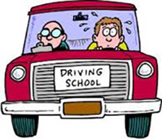 Student driver with instructor